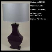 AZ01103 Ivette violetine 35x24x50cm