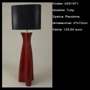 AZ01671 Tulip raudona 27x72cm