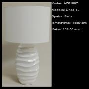 AZ01887 Onda TL balta 45x61cm